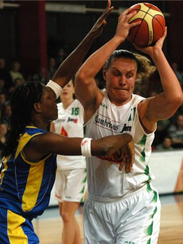 Rankica Sarenac (right) against Tai McWilliams